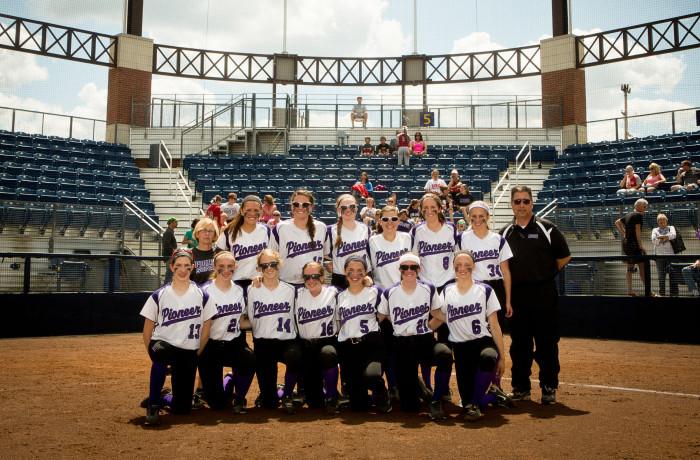 Ann Arbor Pioneer Softball VS Bedford, 5/24/14, UofM Wilpon Complex Ann Arbor MI