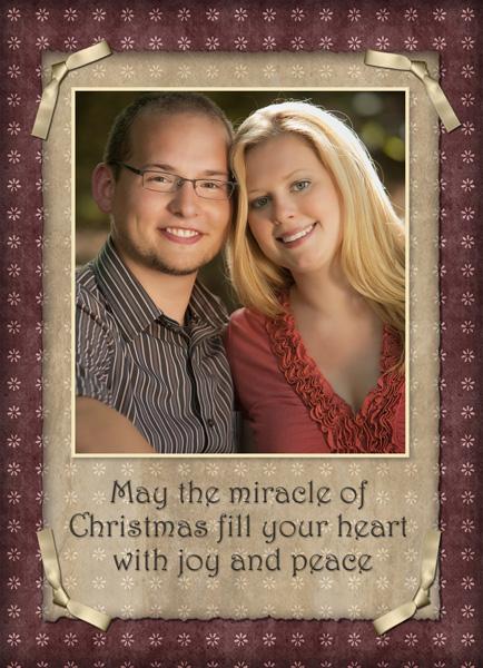 Custom designed press printed photographic Christmas Card