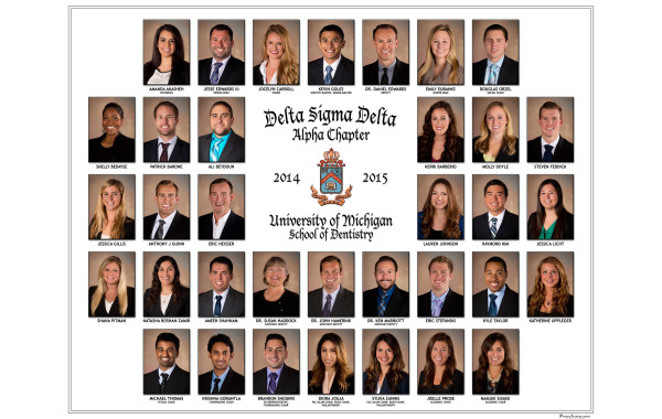 Delta Sigma Delta Dental Fraternity Composite – University of Michigan – Ann Arbor
