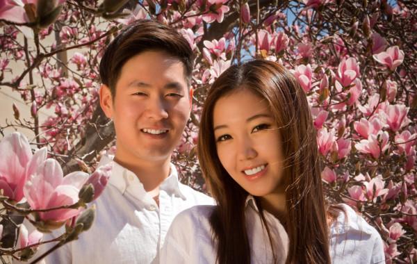 Heewook Lee and Haeseong Kim Wedding Engagement – University of Michigan Ann Arbor Portraits
