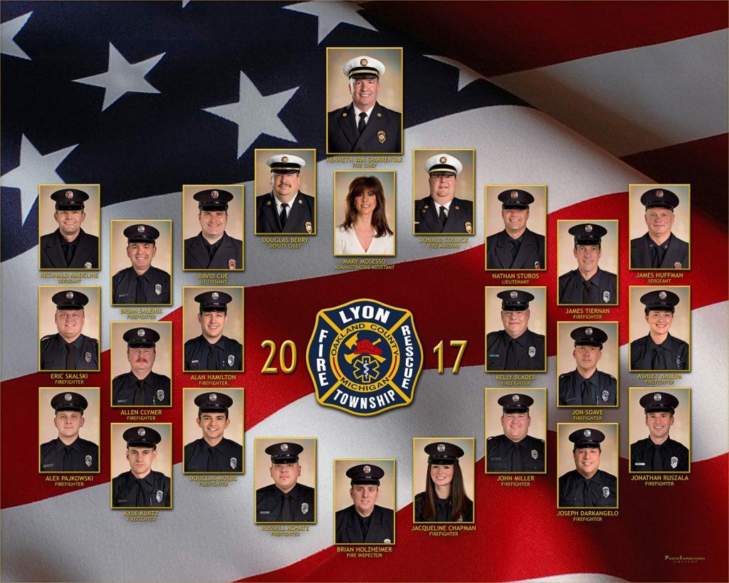 Lyon Township Fire Rescue Composite 2017 - business portrait photography