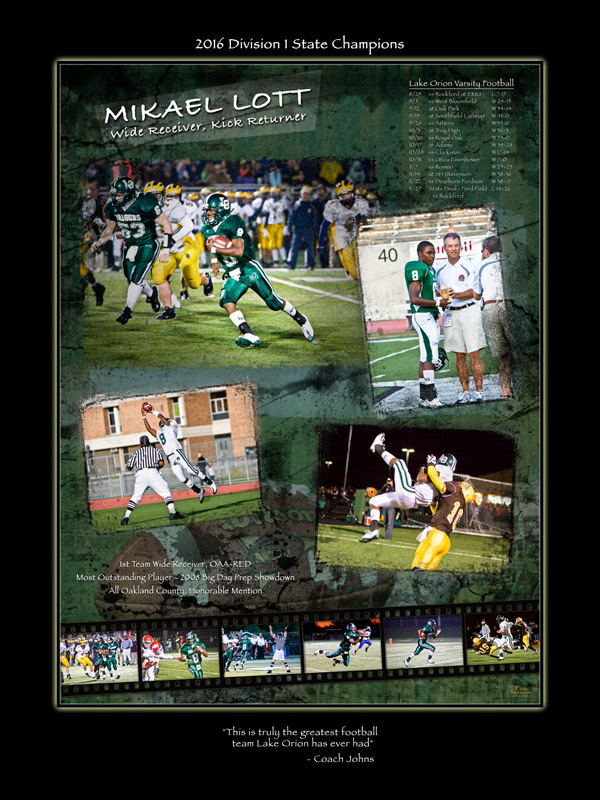 Sport Poster team poster Ann Arbor Plymouth MI portrait studio 341
