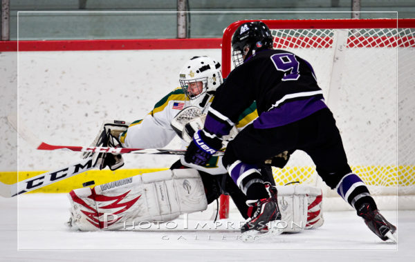 Ann Arbor Huron Hockey VS Pioneer – 12-10-16 – Sport photography