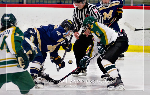 Ann Arbor Huron Hockey VS Mattawan – 12-17-16 – Sport photography
