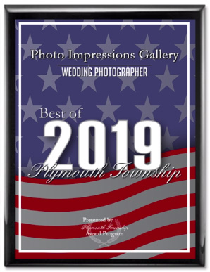 Best Wedding Photographer of Plymouth MI 2019 award