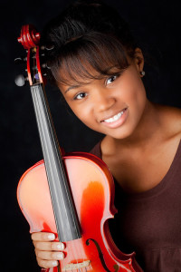 Senior picture violin portrait