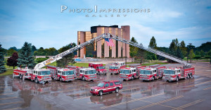 Livonia Fire Department Fraternity Composite Fire Trucks