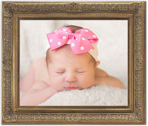 baby picture portrait in frame