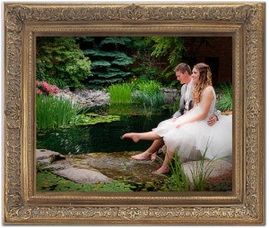 wedding portrait picture in frame