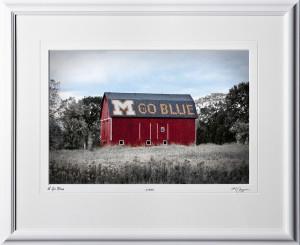 A091017A M Go Blue Barn - Ann Arbor Michigan - shown as 13x19