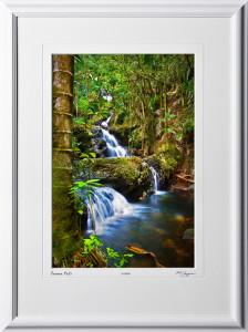 S080404B Onomea Falls - Big Island Hawaii - shown as 12x18