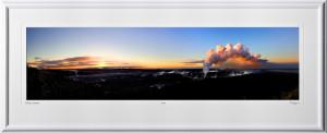P080406A Kilauea Caldera Panorama - Hawaii - shown as 12x45