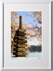 S090403G Japanese Pagoda - Washington DC Cherry Blossom Festival - shown as 12x18