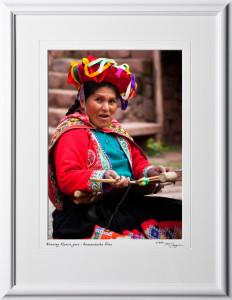 S110515 Weaving Alpaca yarn - Awanacancha Peru - shown as 10x14