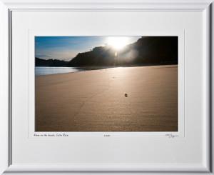 14 W120703 A03 Alone on the beach Costa Rica 12x18 Landscape in 19x24 frame