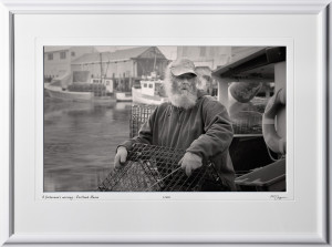 S1012172 A fisherman's morning - Portland Maine - shown as 12x20
