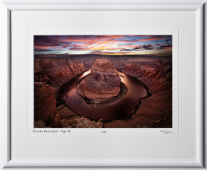 15090223 Horseshoe Bend Sunset - Page AZ - shown as 12x18