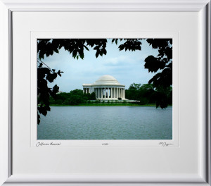 A040521A Jefferson Memorial - Washington DC - shown as 12x16