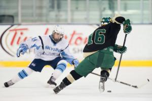 Huron hockey VS Skyline HS Yost ice arena Ann Arbor MI