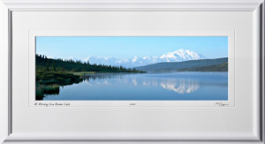 S090717A Mt Mckinley from Wonder Lake - Denali Alaska - shown as 8x24