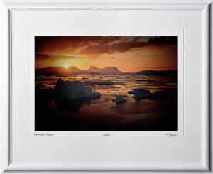 S130112G Antarctica Sunset - Antarctica - shown as 12x18