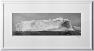 39 S130112K Ice Art - Antarctica - shown as 8x24 in 14x31 frame