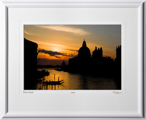 S100924C Venice Sunset - Italy -shown as 12x18