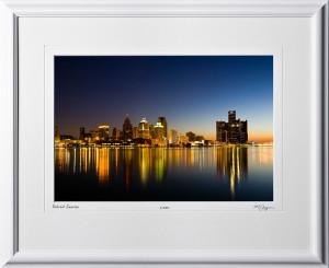 S080901B Detroit Sunrise - Michigan - shown as 12x18