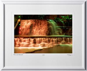 S071207B San Antonio Riverwalk Waterfall - shown as 12x18