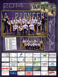 Ann Arbor Pioneer High School Women's Softball Poster 2014, Sport photography