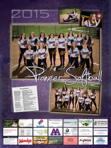 Ann Arbor mi Pioneer Softball Poster 2015 sport photography