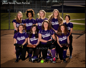 Ann Arbor Pioneer HS Softball Portraits sport photography