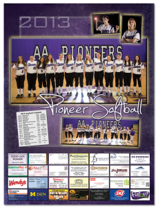 Ann Arbor Pioneer High School Womens Softball Poster 2013