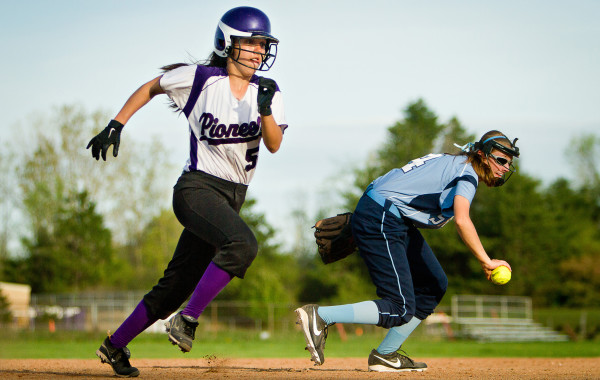 Pioneer Softball VS Skyline, 5-7-13, Ann Arbor