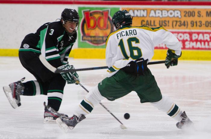 Huron Hockey VS Gabriel RIchard, 1-10-15, Ann Arbor Ice Cube