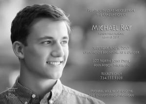 Custom Senior portrait graduation card with photography and artwork