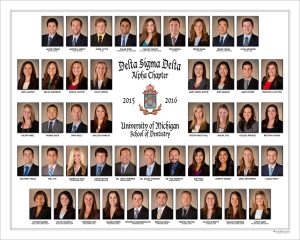 2016 Delta Sigma Delta Fraternity Composite - On site studio portrait photography
