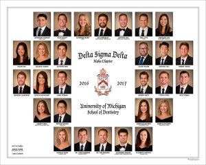2017 Delta Sigma Delta Fraternity Composite - On site studio portrait photography