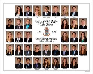Delta Sigma Delta Fraternity Composite Ann Arbor University of Michigan portrait photography