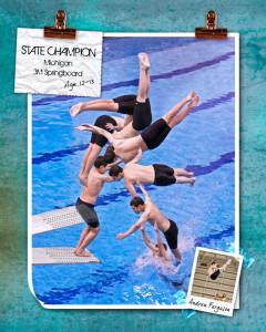 Sport Poster team poster Ann Arbor Plymouth MI portrait studio 337