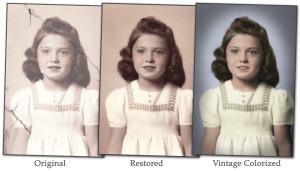 Photo restoration torn photograph restoration colorized